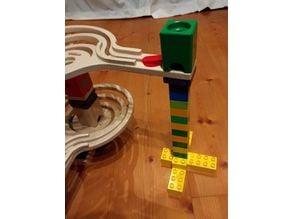 Adapter from Duplo to Hape Quadrilla Marble Runs / Adapter von Duplo auf Hape Murmelbahn