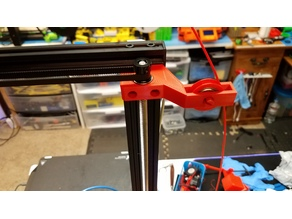 CR-10S Pro Dual Z Bracket with filament guide V5