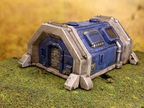 Sci-fi barracks bunker 28mm