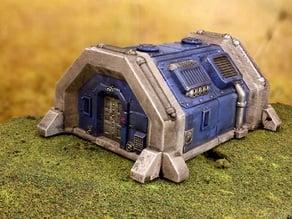 Sci-fi barracks bunker 28mm