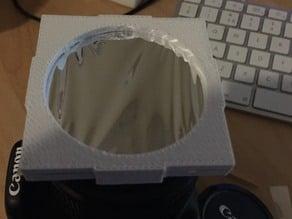 Solar Eclipse Canon 18-55 DSLR lens filter holder