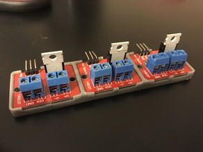 IRF520 Mosfet Module Bumper - 3 Bay