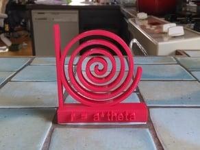 Daily Equation #3 - Spiral r = a*theta