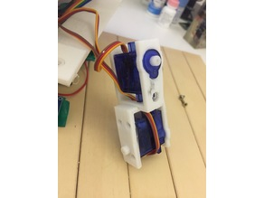 Parametric SG90 servo wrapper and leg