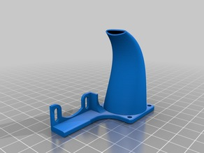 Height adjustable duct for Anet A2 25mm fan