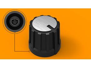 Potentiometer knob, 6mm shaft