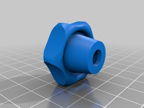 Star knob for metric M6 nut and printed with ABS