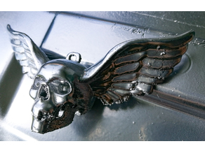 Skull Pendant with wings