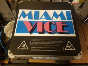 MIAMI VICE LOGO 80'S COP TV SHOW MULTICOLOUR