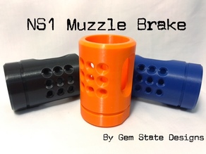 NS1 Muzzle Brake for Nerf N Strike Blasters