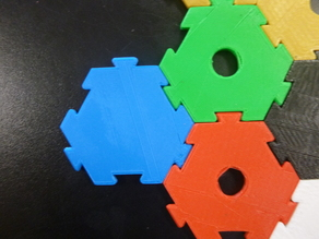 Interlocking Hexagon for modular DIY boardgame
