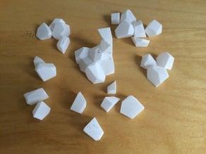 3D voronoi puzzle in 30 pieces