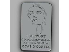 Alexandria Ocasio-Cortez Support Tag
