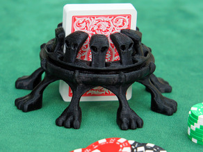 Ornate gothic stand for deck of cards