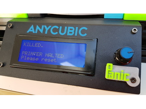 Anycubic Kossel Plus Panic Reset Button