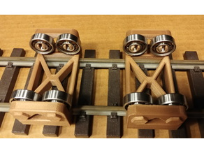 """Bench Test Rollers for """"G"""" Scale Trains"""