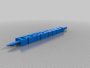 Deseñando TEXT pencil holder