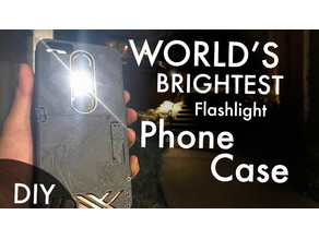 World's Brightest Flashlight Phone Case (DIY) With Additional Power bank Feature