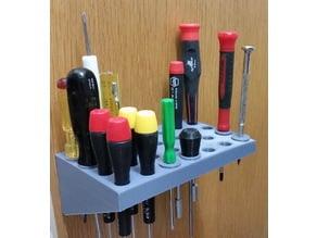 Bushings for Wiha screwdriver rack by spencerwebb