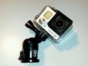 Convert Velbon QHD-41 to GoPro tripod ball head