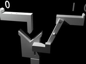 Mechanical NOT Gate