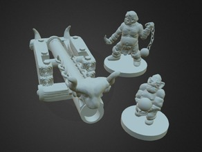Goblin Cannon Crew (18mm Scale)