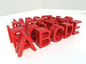 Alphabet glass marker