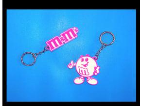 M&M's 2 Keychains