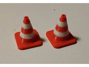 1/35 scale two color traffic cone