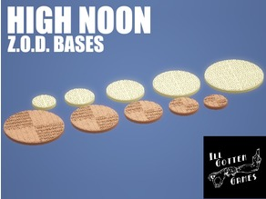 Z.O.D. High Noon Theme Bases (28mm/Heroic scale)