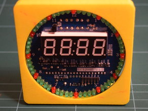 Case for DS1302 Rotation LED Electronic Clock Kit