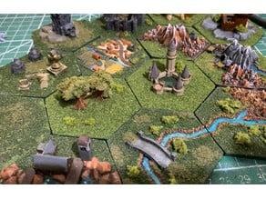Wargaming Hex Tiles / Mighty Empires - Elf / Elven