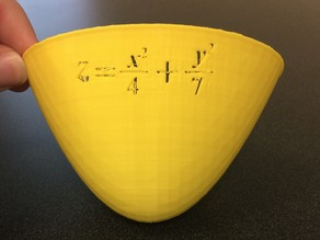 Elliptic Paraboloid -  with equation