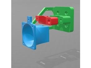 E3D v6 40mm Fan Cooling for bombamans Mount Anet A8