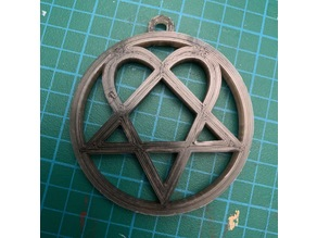 HIM Heartagram Band Logo Keychain