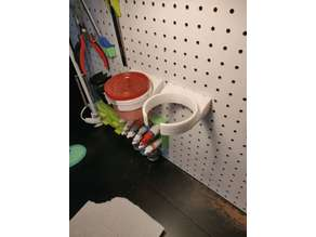 Water Cup Holder for pegboard
