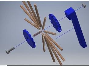Diamond weave coil jig for crystal radio