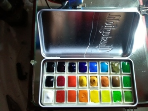 portable watercolour 24 colors palette