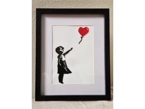 Banksy's Girl with Balloon - 3D print