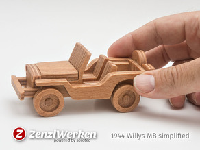 Willys MB simplified cnc/laser