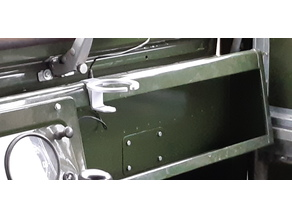 Land Rover Series I & II cans Holder