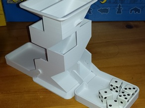 Remixed Angular Dice Tower, with trays