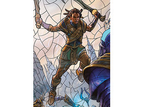 Samut, Tyrant Smasher - stained glass - litho