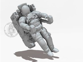 NASA Astronaut With Manned Maneuvering Unit