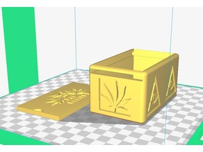 Caja con diseño de marihuana
