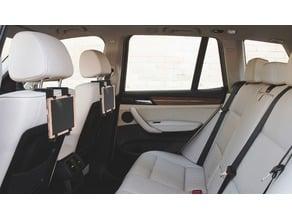 Tablet holder for car seats