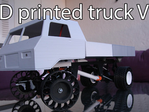 Printed truck V2: Liftable bed