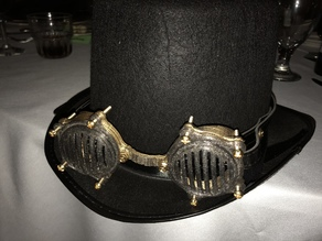 Steampunk Goggles remix with brass hardware