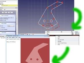 FreeCAD sketch to OpenSCAD script