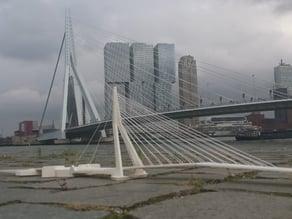 Rotterdam Erasmus Bridge (scale 1:1000)